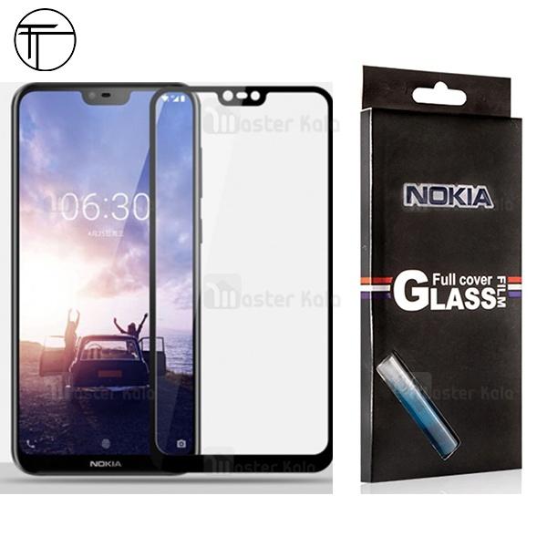 محافظ صفحه شیشه ای تمام صفحه تمام چسب مارک TT نوکیا Nokia 6.1 Plus / X6