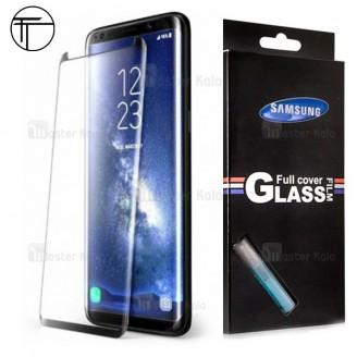 محافظ شیشه ای تمام صفحه و خمیده تمام چسب مارک TT مناسب Samsung Galaxy S8