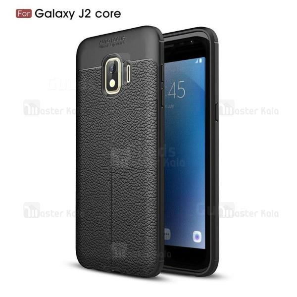 قاب محافظ ژله ای طرح چرم Samsung Galaxy J2 Core 2018 مدل Auto Focus