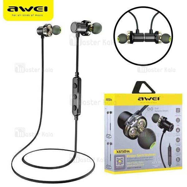 هندزفری بلوتوث اوی Awei X650BL Stereo Earphones گردنی و مگنتی