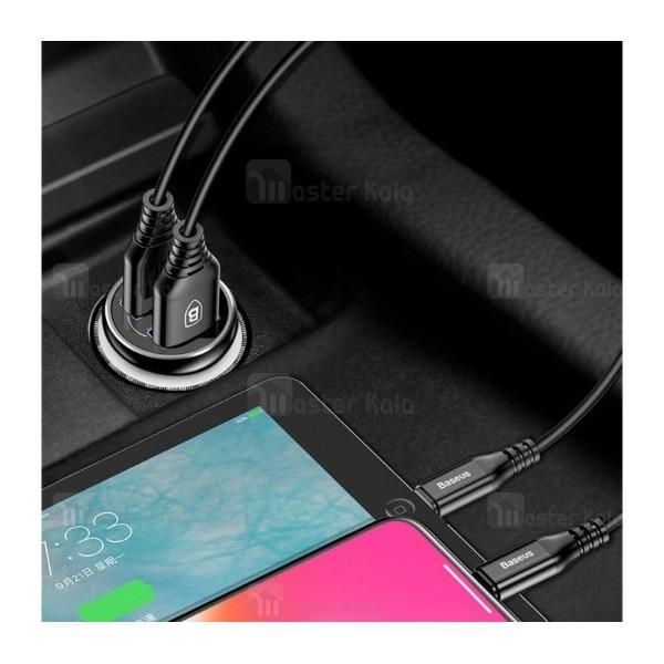 شارژر فندکی 2 پورت 4.8 آمپر بیسوس Baseus Gentleman F635 Dual USB