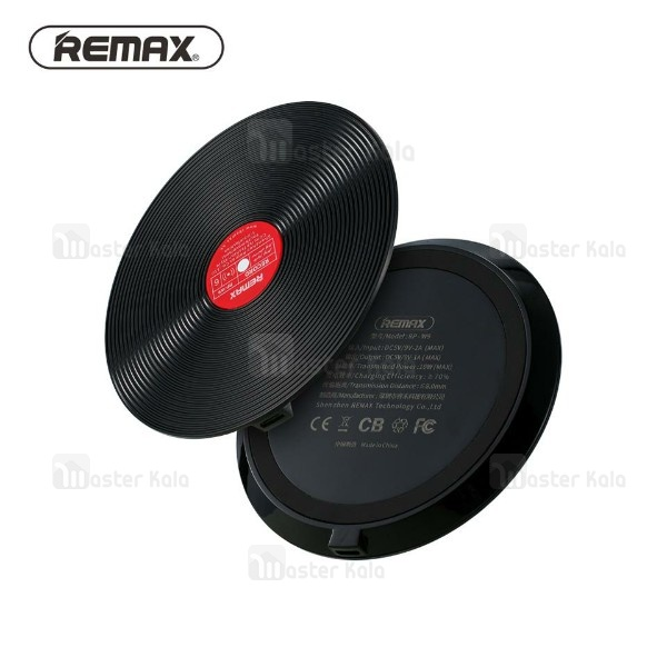 شارژر وایرلس 10 وات ریمکس Remax RP-W9 Vinyl Wireless Charger طرح گرامافون