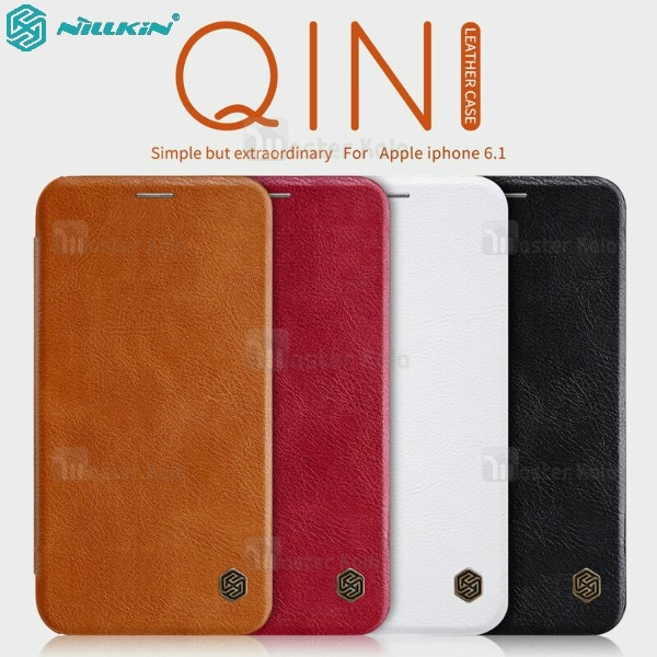 کیف چرمی نیلکین آیفون Apple iPhone XR Nillkin Qin Leather Case