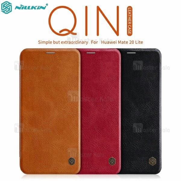 کیف چرمی نیلکین هواوی Huawei Mate 20 Lite Nillkin Qin Leather Case