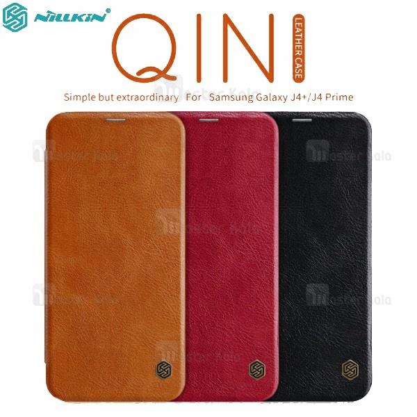 کیف چرمی نیلکین سامسونگ Samsung Galaxy J6 Plus / J6 Prime Nillkin Qin
