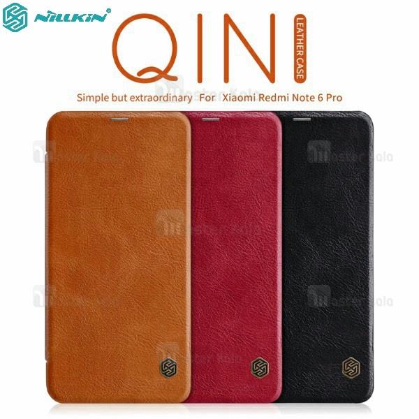 کیف چرمی نیلکین شیائومی Xiaomi Redmi Note 6 Pro Nillkin Qin