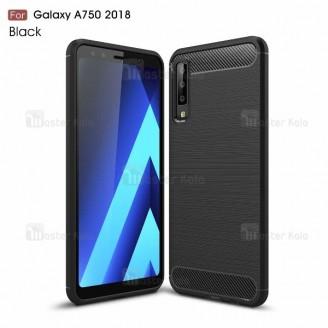 قاب محافظ ژله ای سامسونگ Samsung Galaxy A7 2018 / A750 Fiber Carbon Rugged Armor