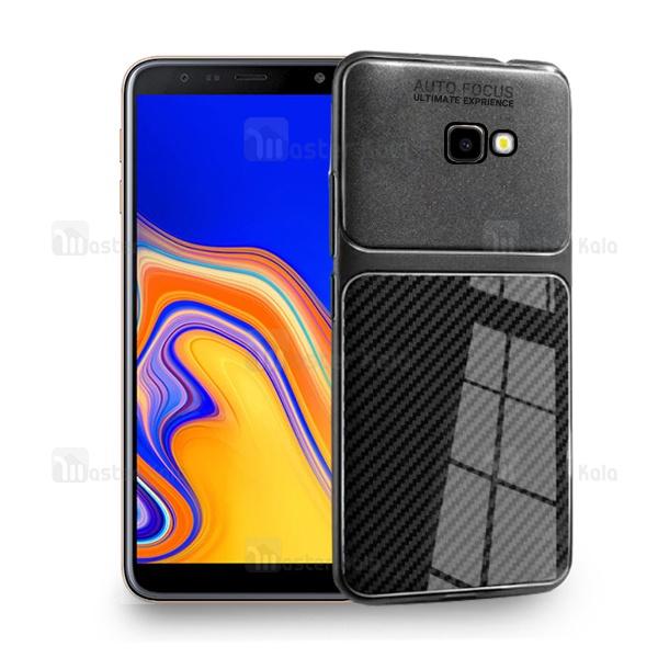 قاب ژله ای طرح چرم فیبر کربنی Samsung Galaxy J4 Plus مدل Auto Focus