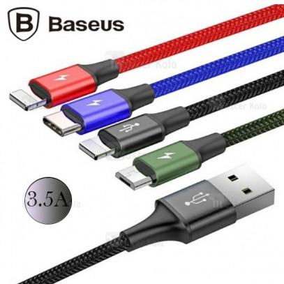 کابل شارژ چهار سر بیسوس Baseus Rapid 4 in 1 با توان 3.5 آمپر