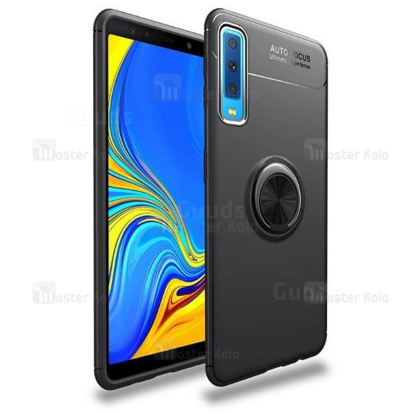 قاب ژله ای طرح چرم انگشتی Samsung A7 2018 / A750 Becation A.F Magnetic Ring