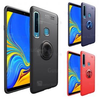 قاب ژله ای طرح چرم انگشتی Samsung A9 2018 /A9s/A9 Star Pro Becation A.F Magnetic Ring