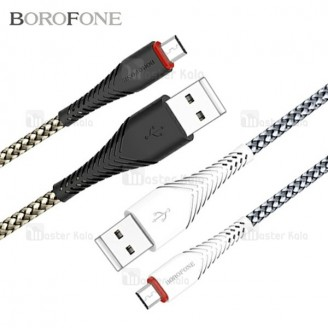 کابل شارژ میکرو یو اس بی بروفون Borofone BX10 توان 2 آمپر و طراحی کنفی