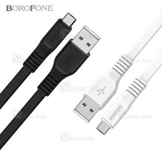 کابل شارژ میکرو یو اس بی بروفون Borofone BX5 توان 2 آمپر و طراحی فلت