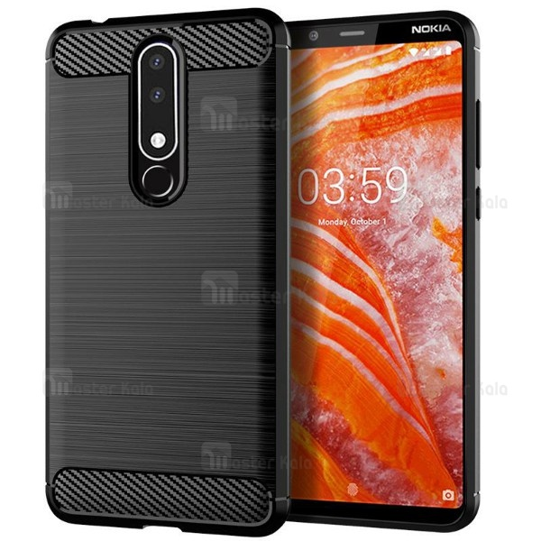 قاب فیبر کربنی Rugged Armor مناسب Nokia 3.1 Plus / X3