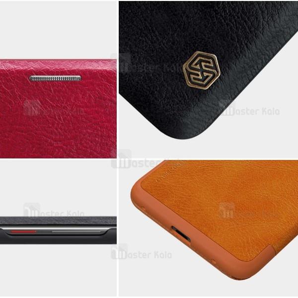 کیف چرمی هوشمند نیلکین هواوی Huawei Mate 20 Pro Nillkin Qin Leather Case