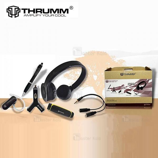 پکیج مسافرتی 6 تیکه Thrumm Mobile Essentials Carry Pack-HP دارای هدفون