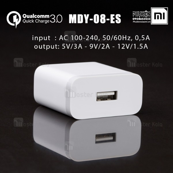 آداپتور شارژر فست شارژ اصلی شیائومی Xiaomi MDY-08-ES Qualcomm 3.0