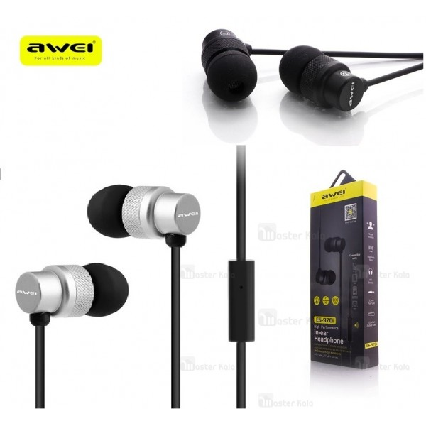 هندزفری سیمی AWEI ES-970i IN-Ear Headphones ساختار تو گوشی
