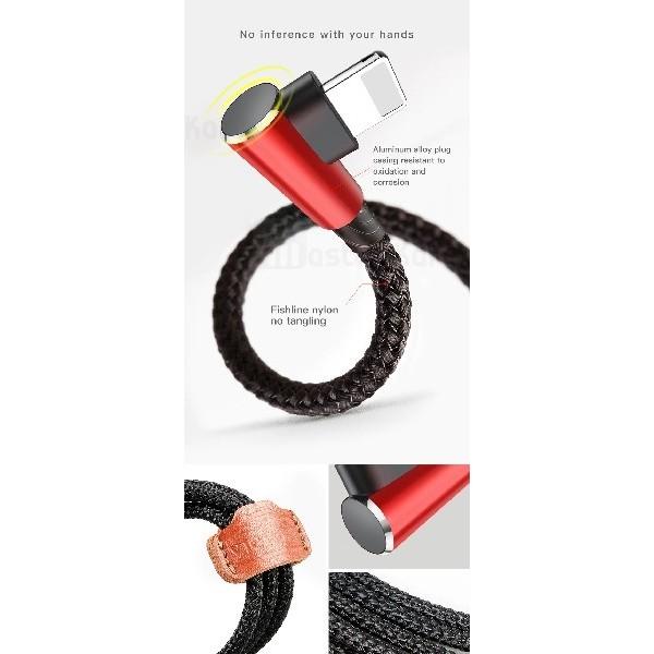 کابل سه سر بیسوس Baseus MVP 3-in-1 Cable CAMLT-WZ01 طراحی کنفی با توان 3.5 آمپر