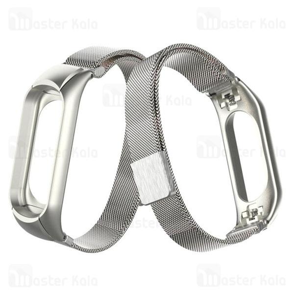 بند فلزی دستبند سلامتی شیائومی Xiaomi Mi Band 3 Milanese Metal Strap