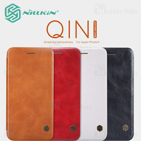 کیف چرمی نیلکین آیفون Apple iPhone 6 / 6s Nillkin Qin Leather Case