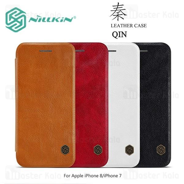 کیف چرمی نیلکین آیفون Apple iPhone 7 / 8 Nillkin Qin Leather Case