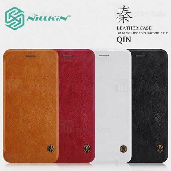 کیف چرمی نیلکین آیفون Apple iPhone 8 Plus / 7 Plus Nillkin Qin Leather