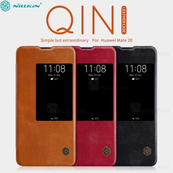 کیف چرمی هوشمند نیلکین هواوی Huawei Mate 20 Nillkin Qin Leather Case
