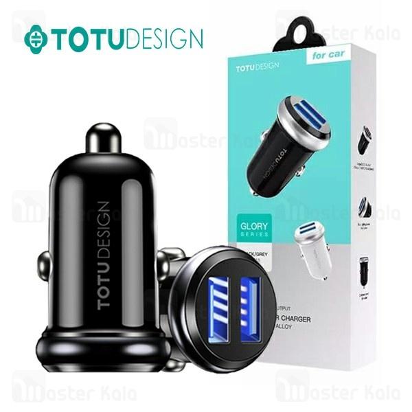 شارژر فندکی دو پورت توتو TOTU Glory DCCD-011 Dual USB با توان 2.4 آمپر