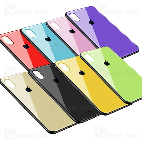 قاب پشت شیشه ای آیفون Apple iPhone XS Max Glass Phone Case ضدخط و خش