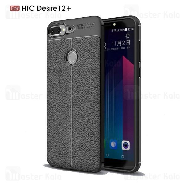 قاب محافظ ژله ای طرح چرم HTC Desire 12 Plus مدل Auto Focus