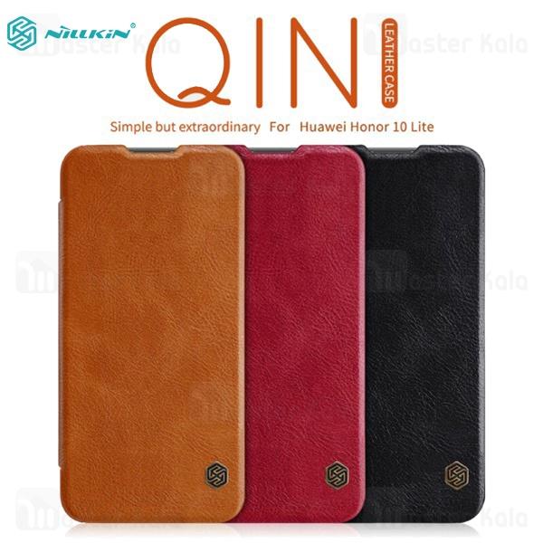 کیف چرمی نیلکین هواوی Huawei Honor 10 Lite Nillkin Qin Leather Case