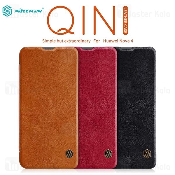 کیف چرمی نیلکین هواوی Huawei Nova 4 Nillkin Qin Leather Case