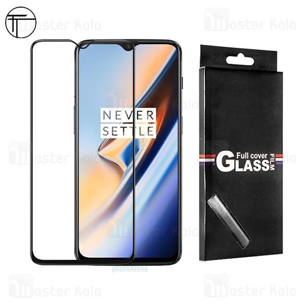 محافظ صفحه شیشه ای تمام صفحه تمام چسب TT وان پلاس OnePlus 6T