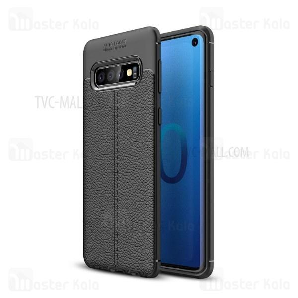 قاب محافظ ژله ای طرح چرم Samsung Galaxy S10 مدل Auto Focus