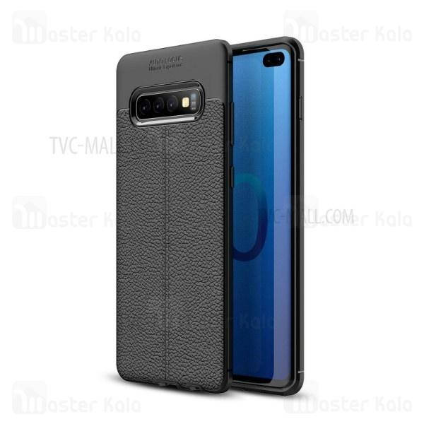 قاب محافظ ژله ای طرح چرم Samsung Galaxy S10 Plus مدل Auto Focus