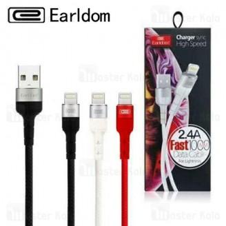 کابل شارژ لایتنینگ Earldom EC-050i Data Cable با توان 2.4 آمپر
