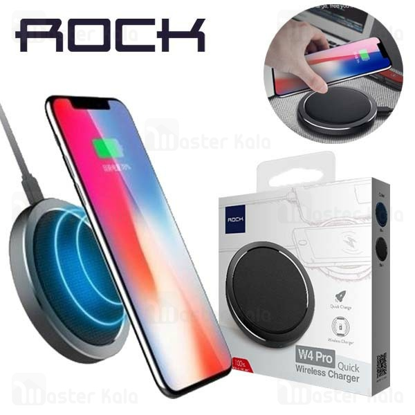 شارژر وایرلس 10 وات راک Rock W4 Pro Quick Wireless Charger DT-518Q