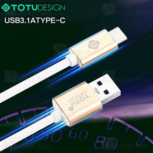 کابل شارژ Type C توتو TOTU 3.1A PROMPT Series Cable USB 3.1 توان 3.1 آمپر