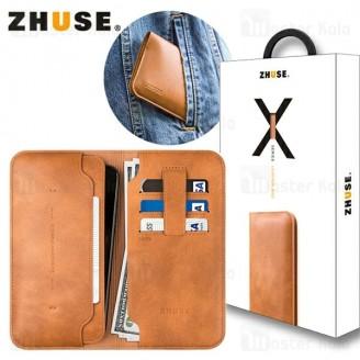 کیف پول چرمی Zhuse X Series ZS-LB-001 Leather Bag مناسب گوشی 4.5 اینچ