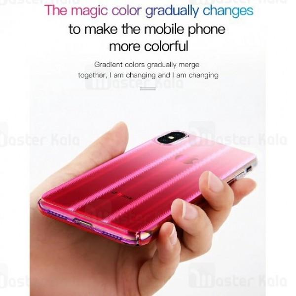قاب لیزری رنگین کمانی بیسوس آیفون Apple iPhone XS Max Baseus Aurora Case WIAPIPH65