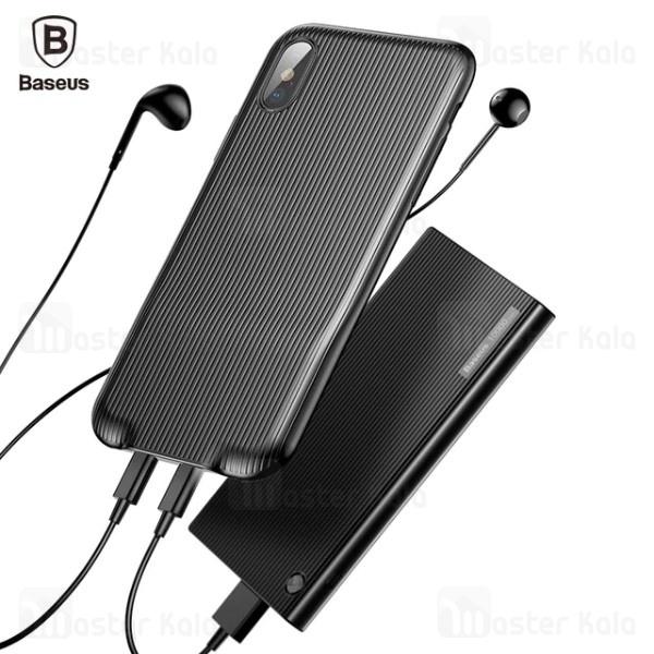 قاب بیسوس آیفون Apple iPhone X / XS Baseus Audio Case مجهز به 2 پورت لایتنینگ