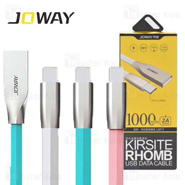 کابل Type C جووی Joway TC08 Kirsite Rhomb USB Data Cable توان 2 آمپر