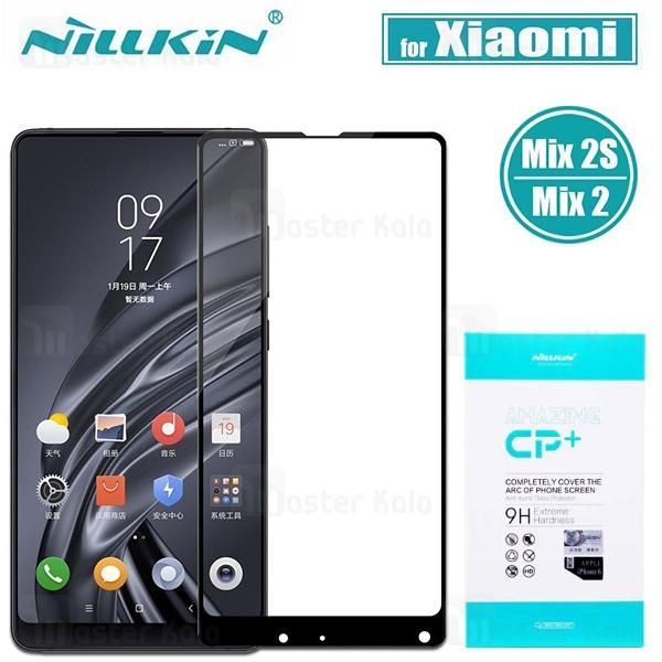 محافظ صفحه شیشه ای تمام صفحه نیلکین شیائومی Xiaomi Mi Mix 2 / 2s Nillkin CP+ Glass