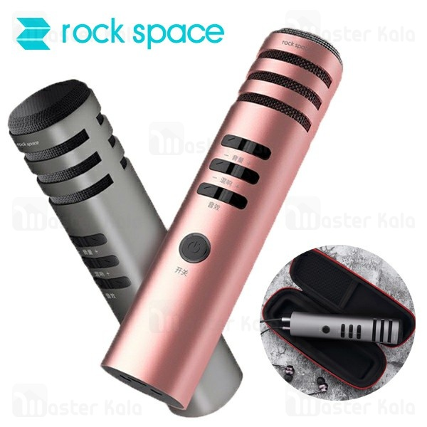 میکروفون سیم دار راک اسپیس rock space K1 Karaoke Microphone