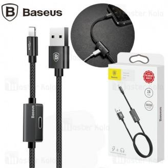 کابل لایتنینگ بیسوس Baseus Music Audio CALYU-01 قابلیت اتصال هندزفری و توان 2 آمپر
