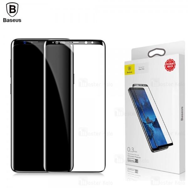 محافظ صفحه شیشه ای تمام صفحه بیسوس Samsung Galaxy S9 Plus Silk Screen
