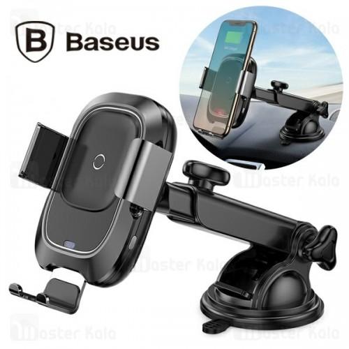 پایه نگهدارنده و شارژر وایرلس بیسوس Baseus Smart Vehicle Bracket Car WXZN-01