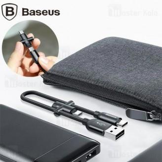 کابل دو سر بیسوس Baseus U-Shaped camutc-01 میکرو USB و تایپ سی - طول 23 سانتی متر