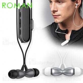 هندزفری بلوتوث رومن Roman J3 Clip Bluetooth Headset طراحی مگنتی